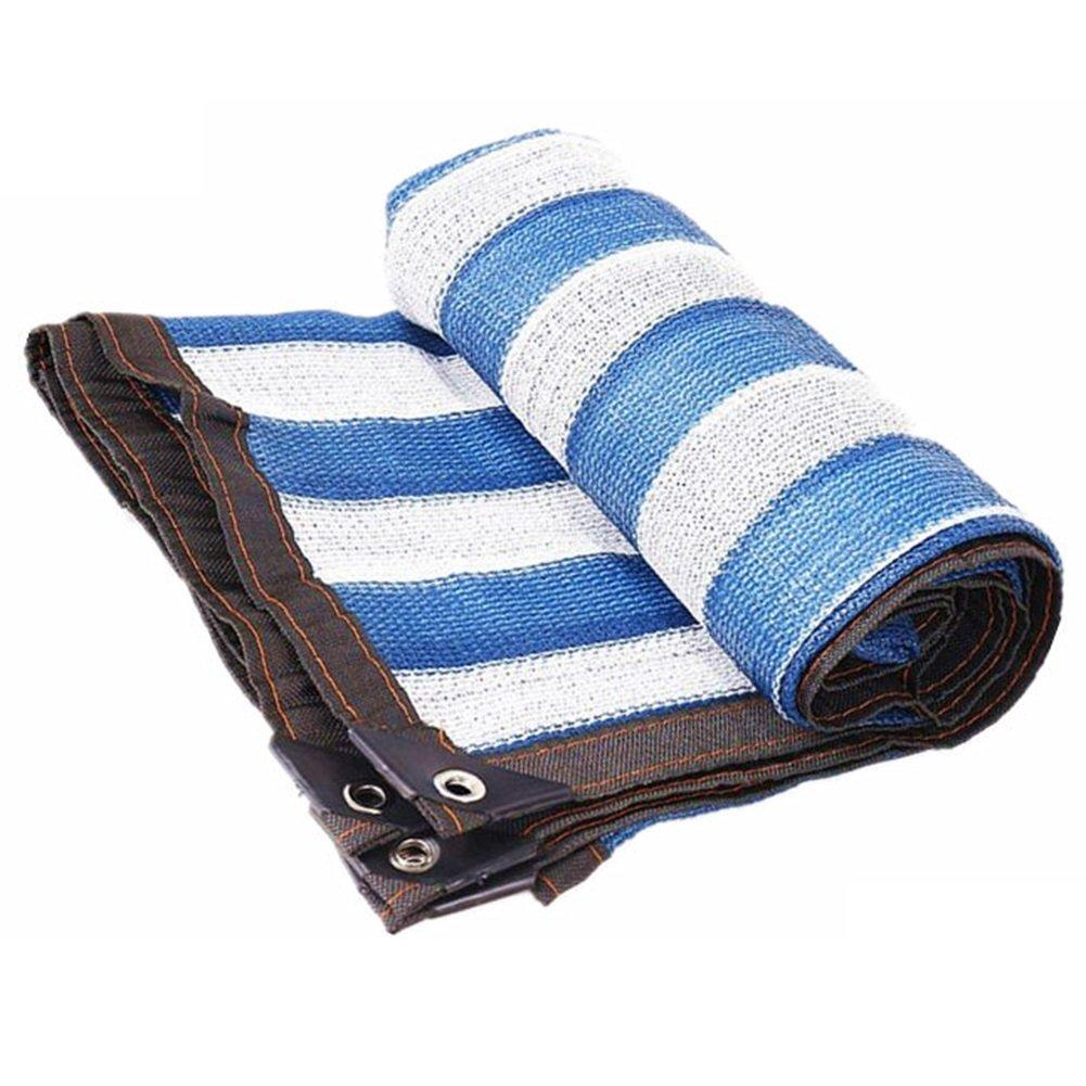 HAIPENG Rete Parasole Serre Antivento Rete di Ombreggiatura Solare Polietilene Panno Ombra Sunblock Isolamento Termico Telone Giardino (colore   blu+bianca, Dimensioni   3.8x5.8m)