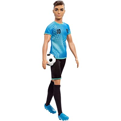 Ken Soccer Player Doll with Soccer Ball Wearing Soccer Uniform Accessorized with Soccer Socks and Cleats, Gift for 3 to 7 Year Olds: Toys & Games