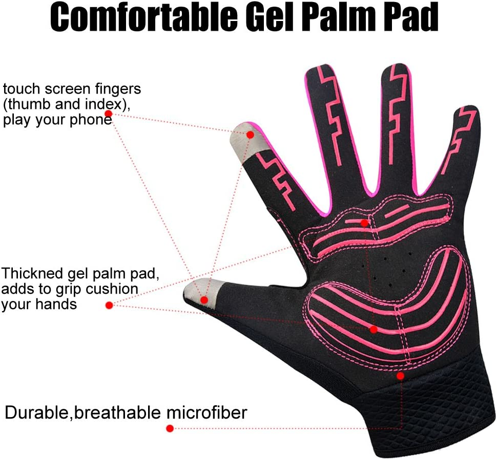 MATT SAGA Touch Screen Gloves for Men Women Winter Cycling Gloves Breathable Full Finger Bike Bicycle Gloves Windproof Gel Warm Gloves for Riding Driving Running