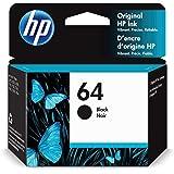 HP 64   Ink Cartridge   Black   Works with HP ENVY Photo 6200 Series, 7100 Series, 7800 Series, HP Tango and HP Tango X   N9J