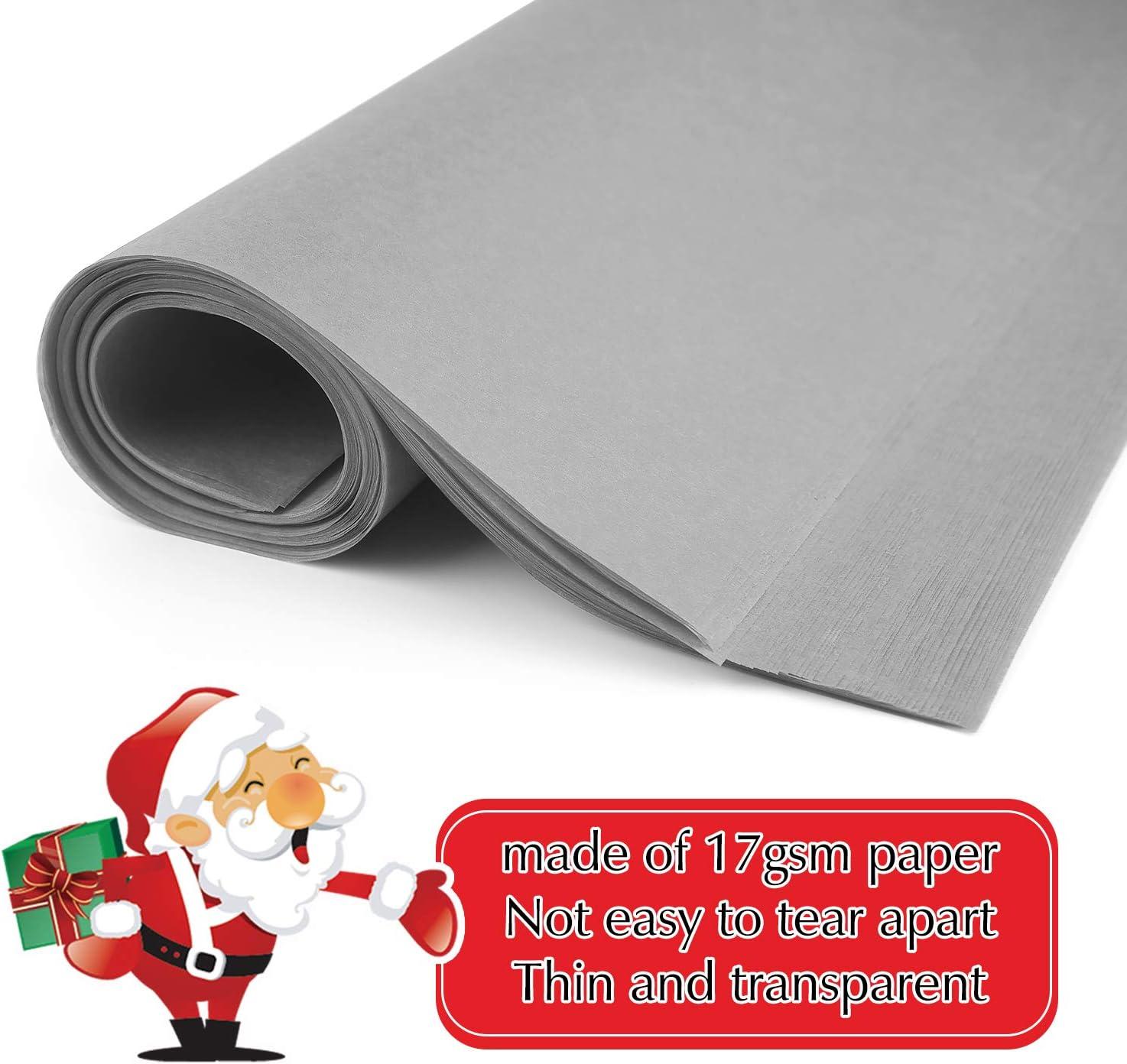 Miahart 60 Blatt Weihnachtliches Seidenpapier 50 x 35 cm Weihnachten Geschenkpapier f/ür DIY und Basteln Geschenkt/üten Dekorationen gr/ün
