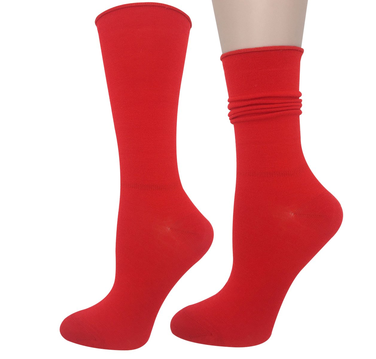 Cityelf Women's Classic Roll Top Cotton Compression Socks (6 pairs, mix) by Cityelf (Image #4)