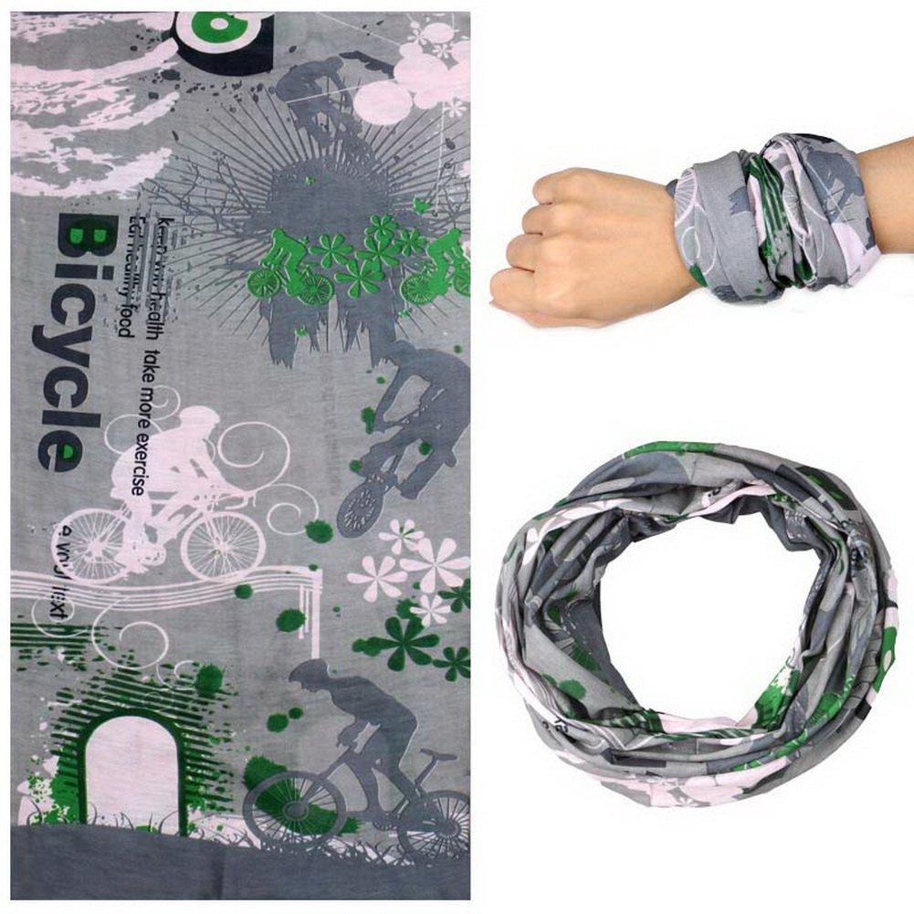 Gentle Meow 2 Pcs Sports Handband Magic Scarf Cycling Headband Multifunctional, Fun Bicycle