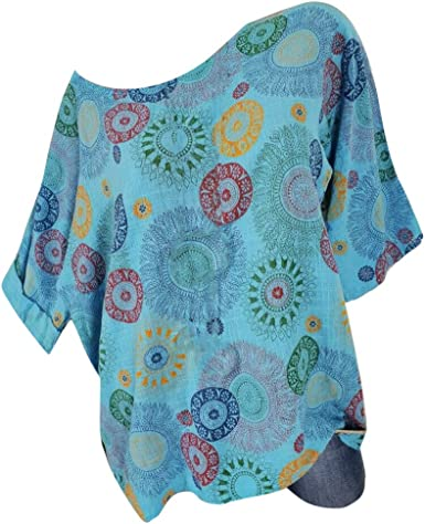 POLP Camisetas y tops Blusas Tallas Grandes Mujer Verano Camisetas Manga Corta Cuello Redondo Regalo Originales Mujer 5XL Camisa de Manga de Murciélago: Amazon.es: Ropa y accesorios