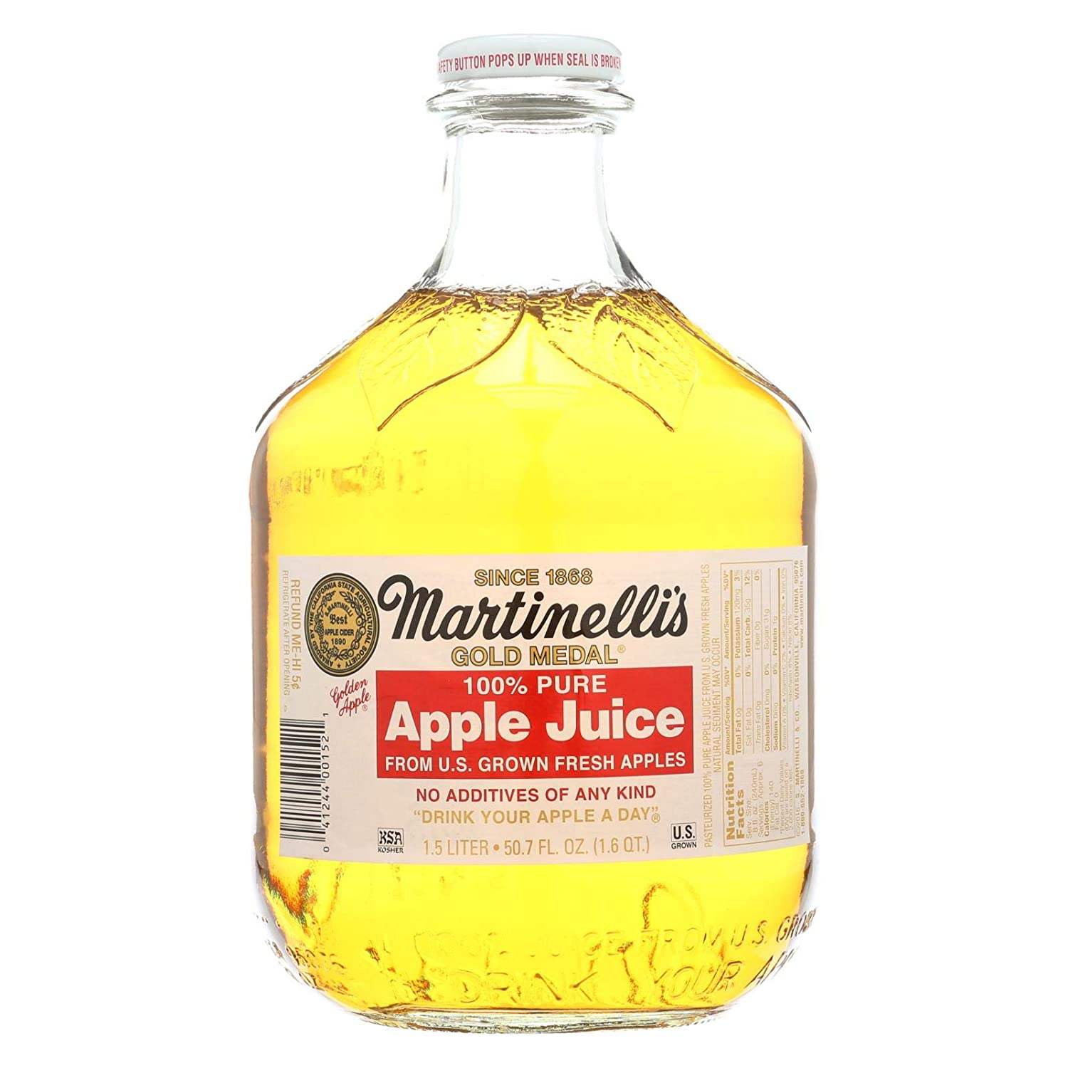 Martinelli's Apple Juice 1.5 Ltr (Pack Of 6)