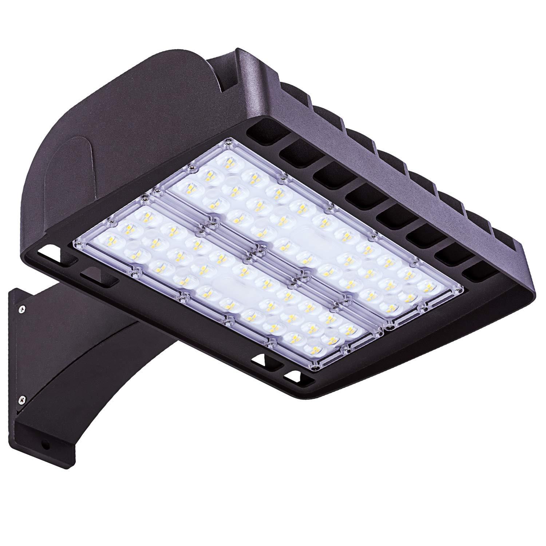 FaithSail 200W LED Parking Lot Lights Outdoor Shoebox Pole Light, 26000LM, 5700K, 600W MH/HPS Replacement, Ultra Bright Commercial Area Street Shoe Box Parking Lot LED Lighting Fixture, Arm Mount