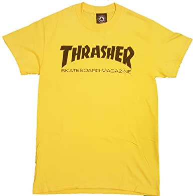 THRASHER SKATE MAG TEE YELLOW TALLA: L: Amazon.es: Ropa y ...