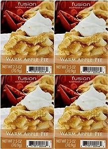 Scentsationals Fusion Warm Apple Pie Wax Cubes - 4 Packs of 6 Cubes Each