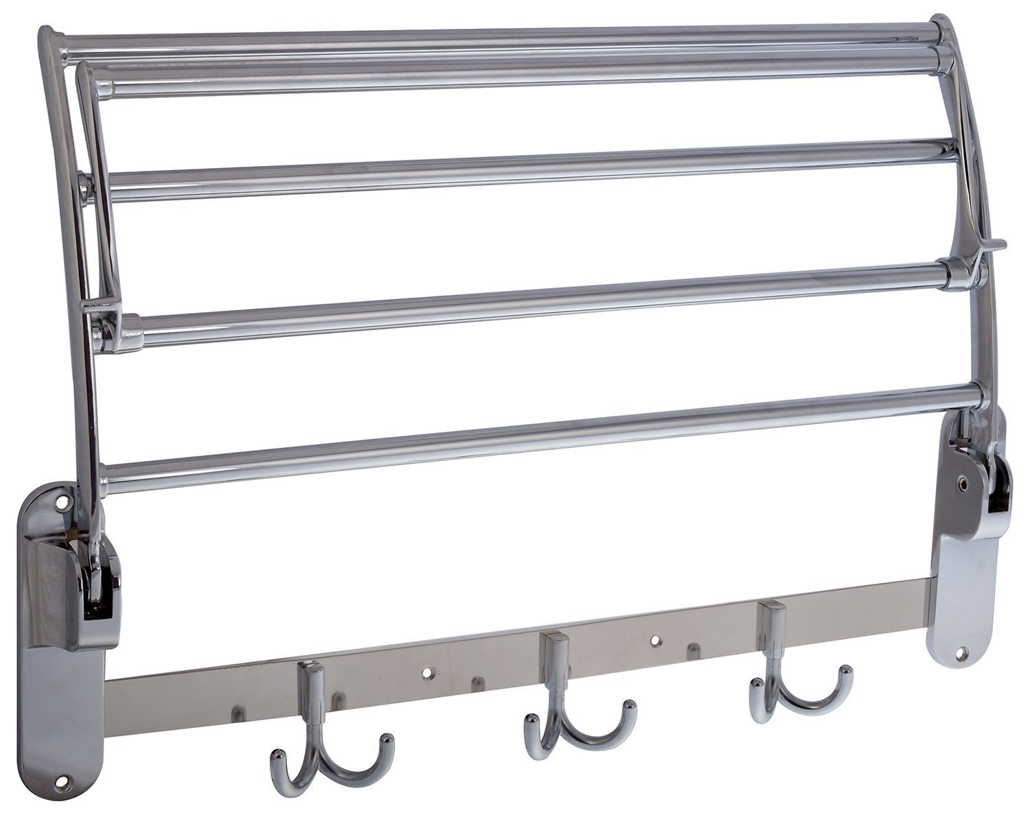 GARBNOIRE 202 Grade Stainless Steel 1.5 feet Long Folding Bathroom Towel Rack/Swivel Towel Bar, Stainless Steel Wall Mounted Shelf Organization for Storage Hanging Holder Above Toilet/Hotel/Home