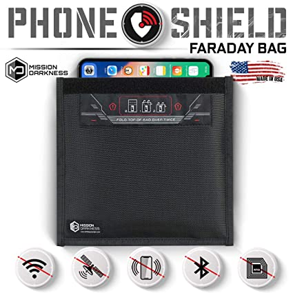 Mission Darkness Non-Window Faraday Bag for Phones - Device Shielding for  Law Enforcement, Military, Executive Privacy, Travel & Data Security,