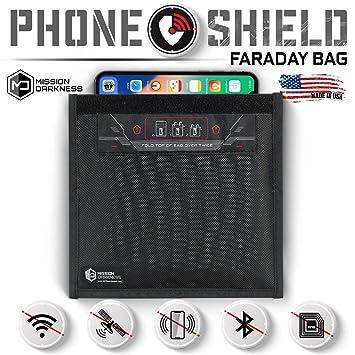 Mission Darkness Bolsa de Faraday Ventana para teléfonos celulares ...