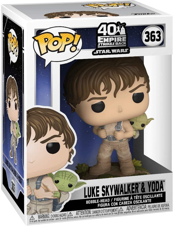 """Formazione di Star Wars Luke /& Yoda 3.75/"""" POP Figura in Vinile FUNKO 363 Venditore Regno Unito"""