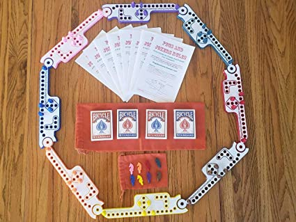 60 Pegs and Jokers 10 player Wooden Game board PEGS FREE SHIPPING