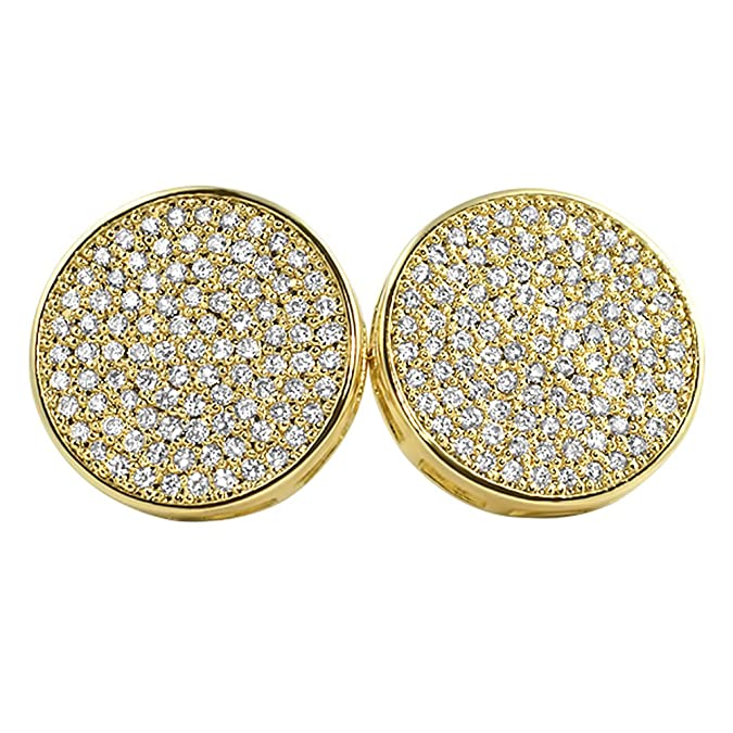 f8a53d279 Amazon.com: Gold Large 16MM Circle Micro Pave Bling Bling Earrings: Jewelry