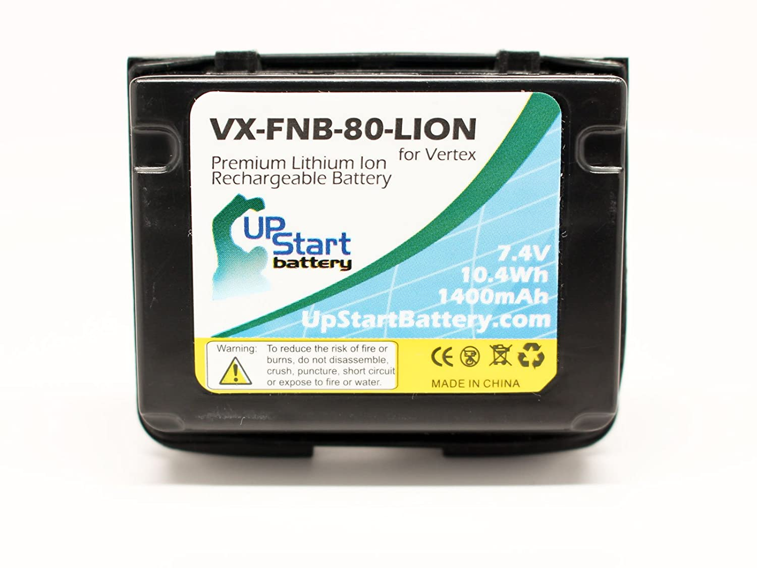 Yaesu FNB-80Li Two-Way Radio Battery Replacement (1400mAh) - Compatible with Yaesu FNB-58, FNB-58Li, FNB-80, FNB-80Li, VX-5, VX-5R, VX-5RS, VX-6, VX-6R, VX-6R/E, VX-7R, VX-7RB, VXA-700, VXA-710
