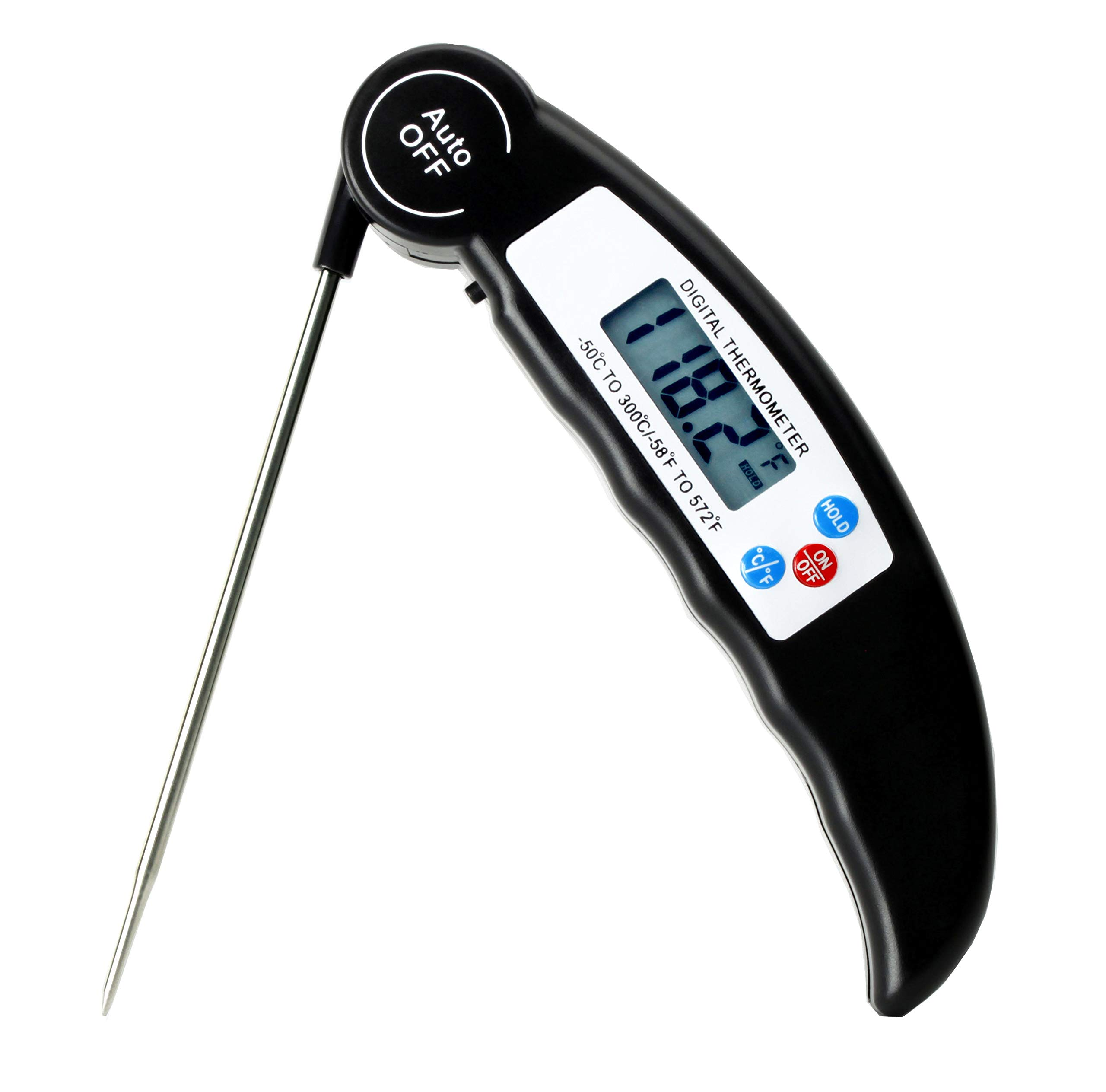 Digital Meat Thermometer Instant Read/waterproof/with Magnetic Base/Foldable/Pocket Size Meat Thermometer for Grilling Food Thermometer for BBQ/Baking/Candy/Milk/Tea/Beer/Indoor Outdoor Use