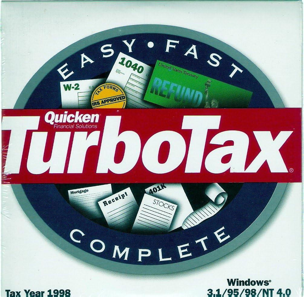 B000AAI7TQ Quicken TurboTax {Federal Return Tax Year 1998} 71mh4SDUprL