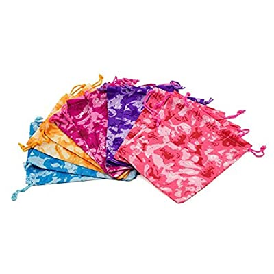 Adorox 12 Bags of Tie-Dyed Camouflage Drawstring Tote Bags Party Favors Arts & Crafts (Assorted (12 Bags)): Toys & Games [5Bkhe1006615]