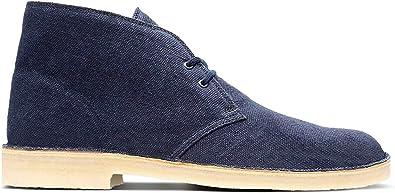 Desert Boots, Blue Navy Fabric, 8.5 UK