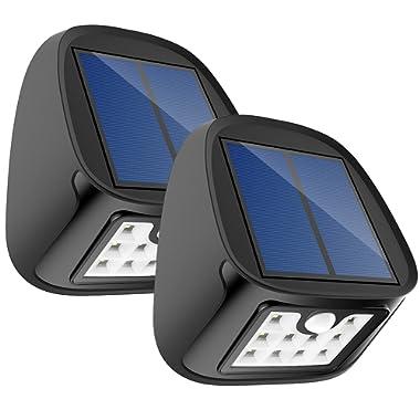 Aptoyu Solar Lights, Outdoor Waterproof Wireless Solar Motion Sensor Security Lights for Driveway Garden Wall Back Door Step Stair Fence Deck Yard Patio, Pack of 4