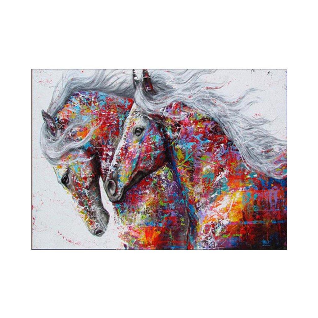 Ranuw ricamo Paintin, cavallo DIY 5D pittura diamante ricamo a punto croce ufficio Home Decor Animal