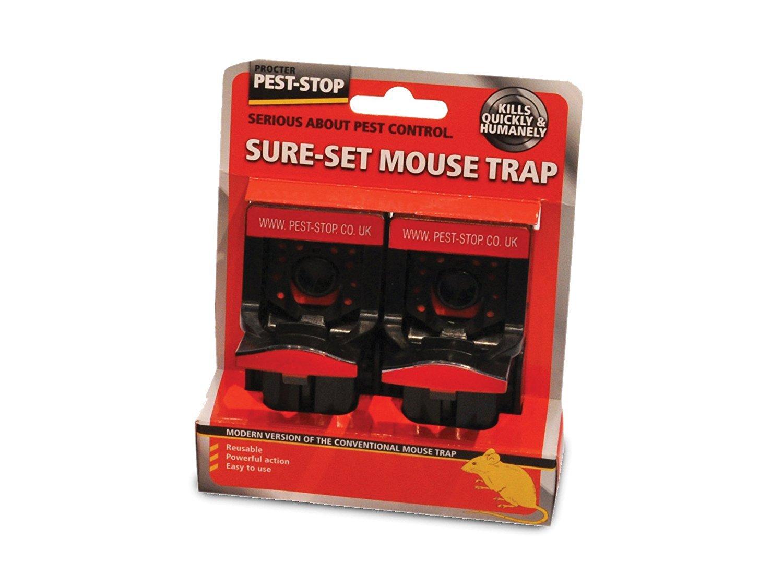 Pest-Stop Sure-Set Plastic Mouse Trap PSSPT Pest Control Products Rat & Mouse Traps garden