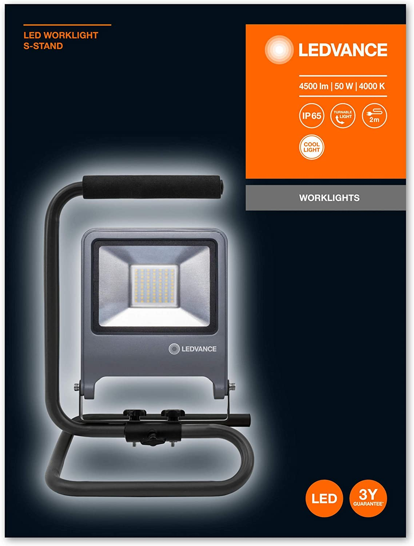 Luz de trabajo color gris oscuro aluminio Ledvance 20 W
