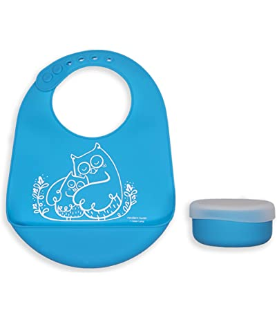 modern-twist silicone owls baby bucket-bib and...