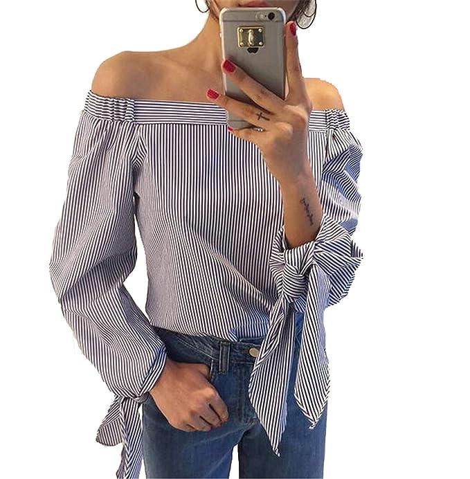 Battercake Blusa Mujer Elegantes Primavera Otoño Camisa De Manga Larga Blusa De Carmen Flecos Off Shoulder Casuales Mujeres Camisas Moda Joven Tendencia ...