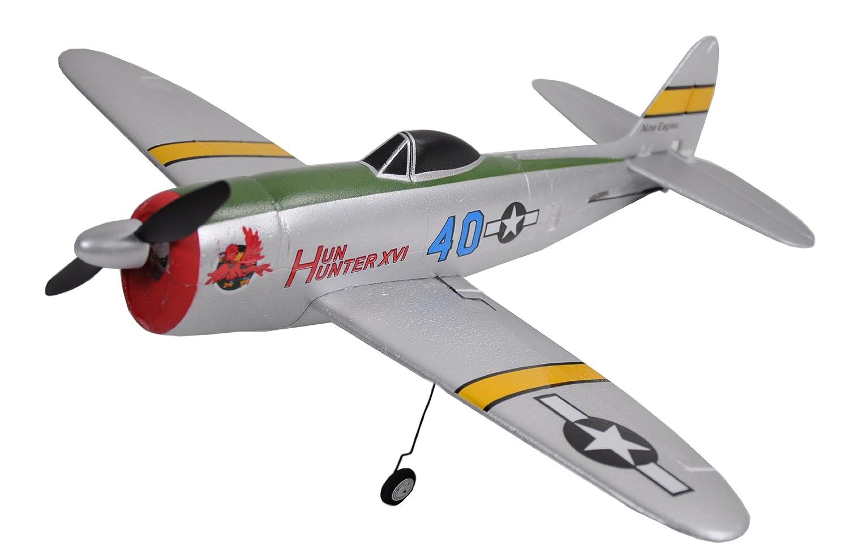 Unbekannt Nine Eagles 24028 - Profi Kunstflugzeug Thunderbolt P47 2.4 GHz 4-Kanal RTF