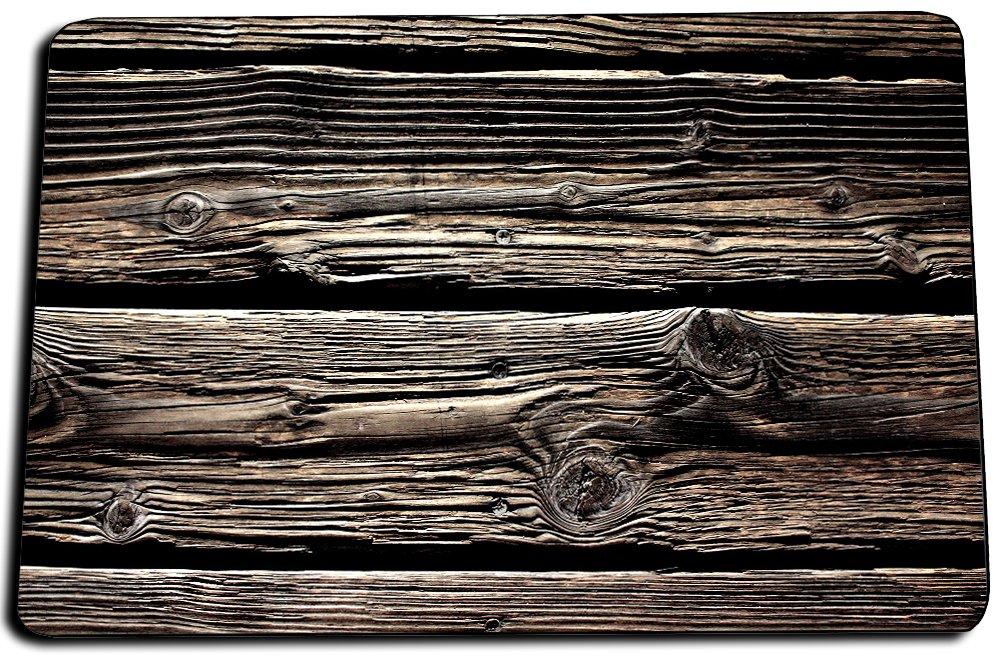 Brotherhood Rustic Old Barn Distressed Wood Indoor/Outdoor No Slip bottom Door Mat, Kitchen Rug, Bathroom Rug (27'' x 19'' x .25'') (Dark Wood)