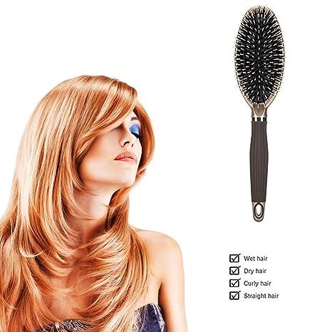 Amazon.com: Solanar Paddle cepillo para polvo de pelo de ...