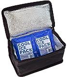 スケーター 保冷 ランチバック 2段 弁当箱 650ml~950ml用 保冷剤 2個付