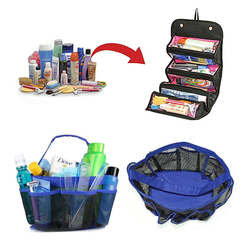 High School Graduation Gift - College Starter Kit BUNDLE: Roll up Organizer and Shower Caddy (2 Items)