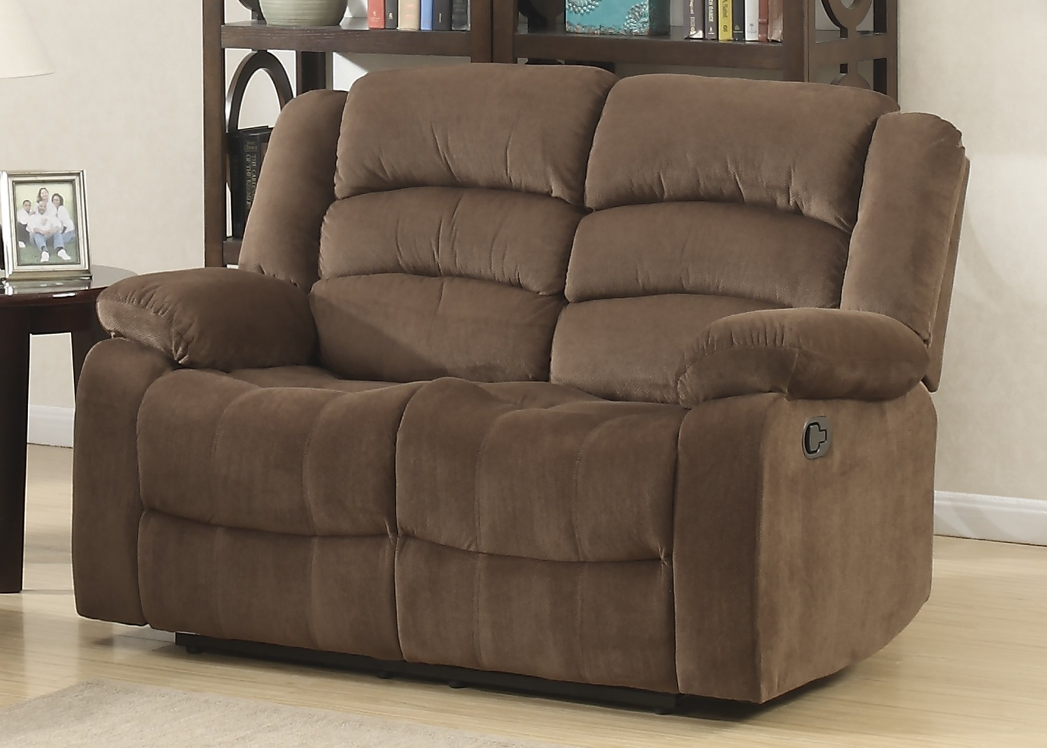 Christies Home Living Bill Contemporary Room Reclining Love Seat, Brown