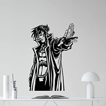 Gambit Superhero Wall Decal X Men Marvel Comics Gambit Superhero Vinyl Sticker  Video Game Gaming Part 51