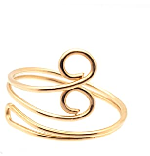 14k Yellow Gold Swirl Adjustable Cute Toe Ring Set Fine Jewelry Gifts For Women For Her IceCarats 6241077810924832826