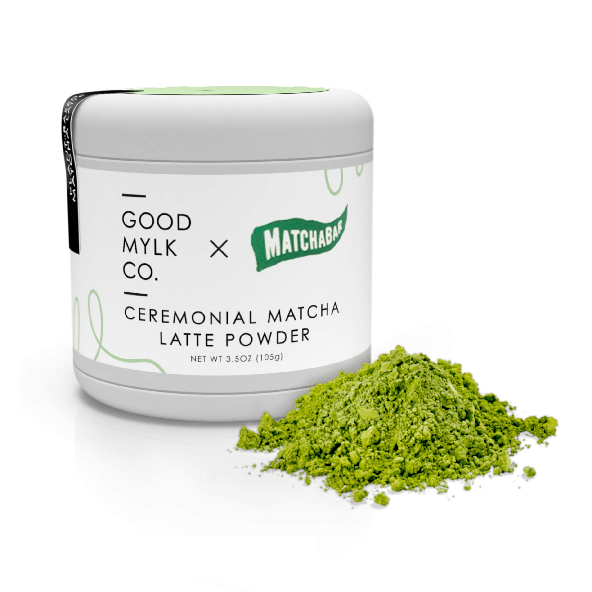 Ceremonial Matcha Latte Powder by Goodmylk Co. x MatchaBar | Ceremonial Grade Japanese Green Tea with Dairy-Free Almond Creamer | Just Add Hot Water and Whisk or Blend | Organic, Sprouted, Plant Based by Goodmylk Co.