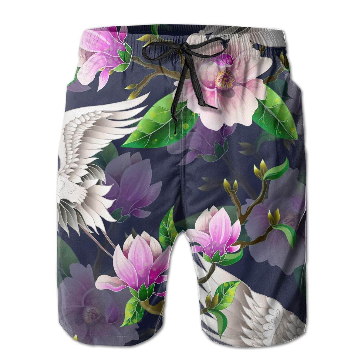 SARA NELL Mens Swim Trunks Magnolia Flowers Surfing Beach Board Shorts Swimwear