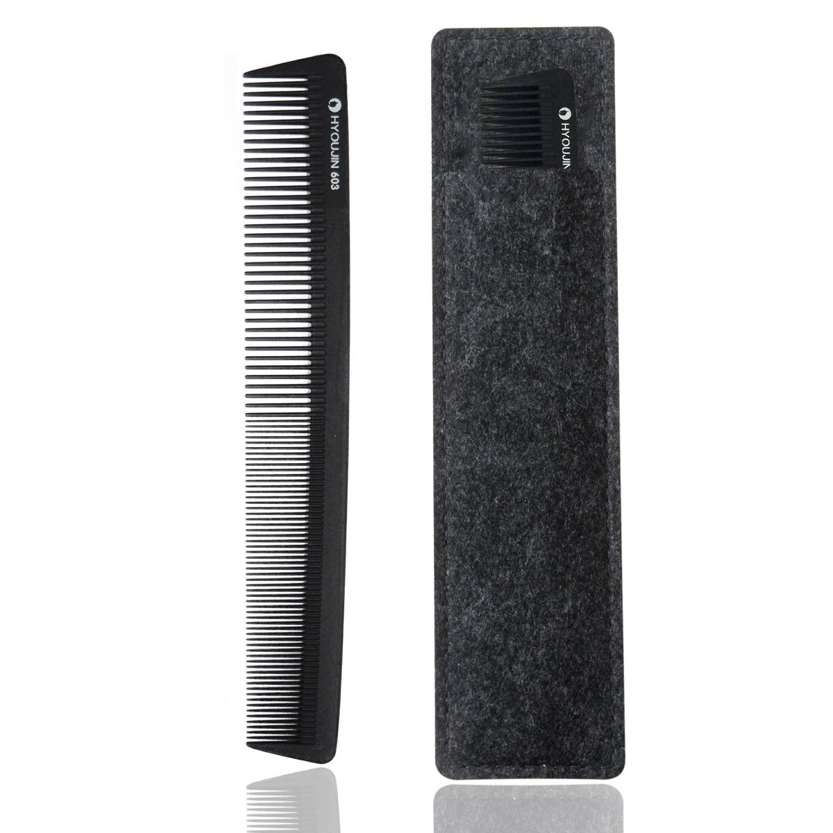 HYOUJIN 603 Classic Precision Cutting Comb, 7.5 Inch(19.5cm), 100% Anti static 230℃(450°) Heat Resistant, best for precise cut & dressing styling comb