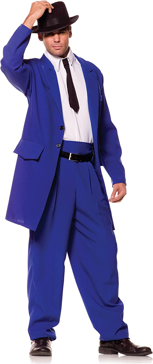 New 2 Pcs Man Gangster suit Halloween costume cosplay party sz XXL book week