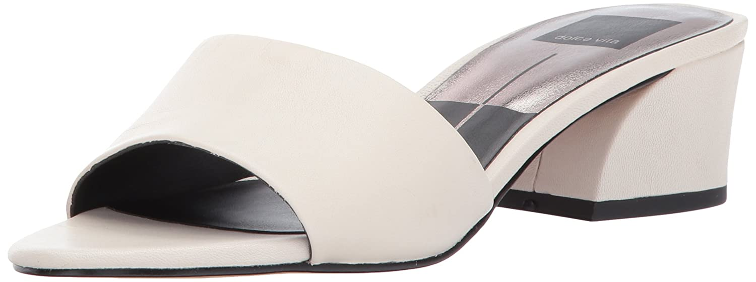 Dolce Vita Women's Rilee Slide Sandal B071K7NCGB 6.5 B(M) US|Ivory Leather