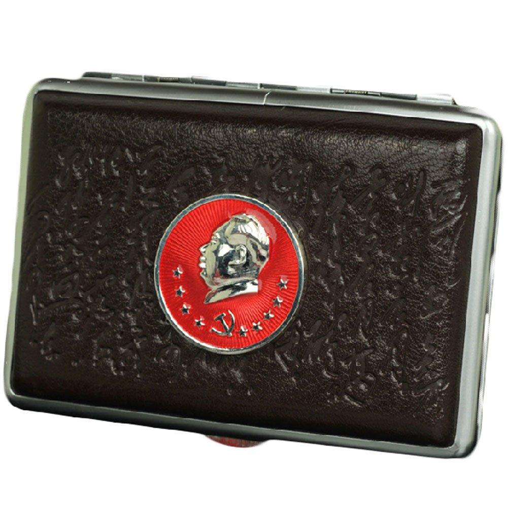 Blancho MAO Zedong Durable Leder Zigarettenetui Exquisite Cig-Halter-Kasten BT-CLO3478915011-MC00928