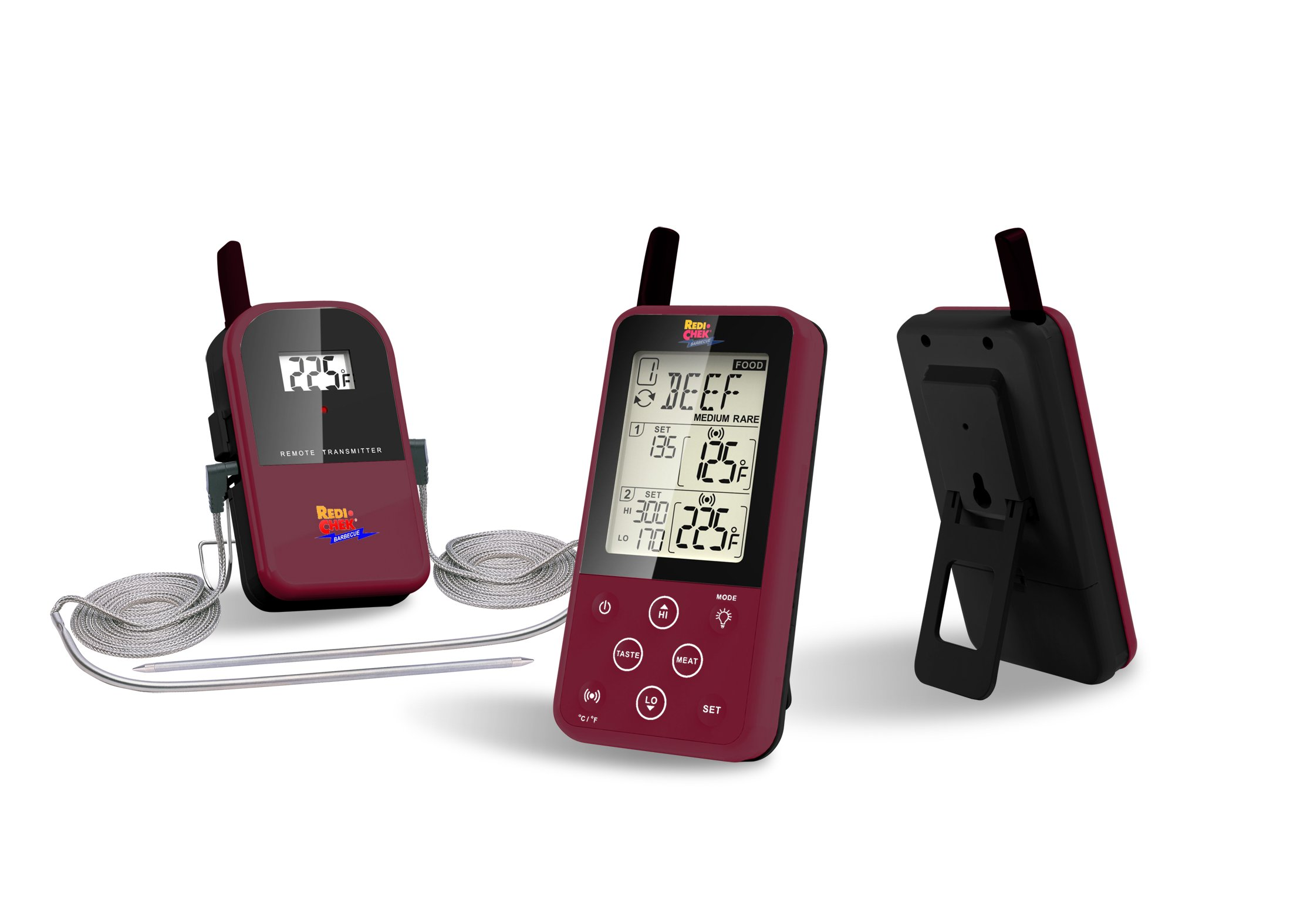 Maverick Et-733 Long Range Wireless Dual Probe BBQ Smoker Meat Thermometer Burgundy by Maverick
