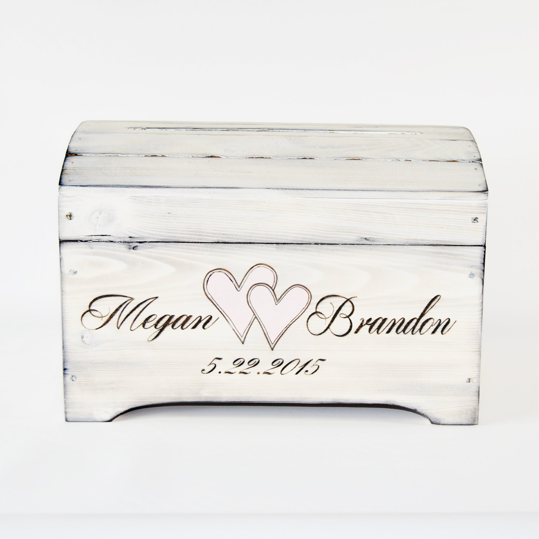 Large Wooden Shabby Chic Keepsake Memory Box with personalized engraving