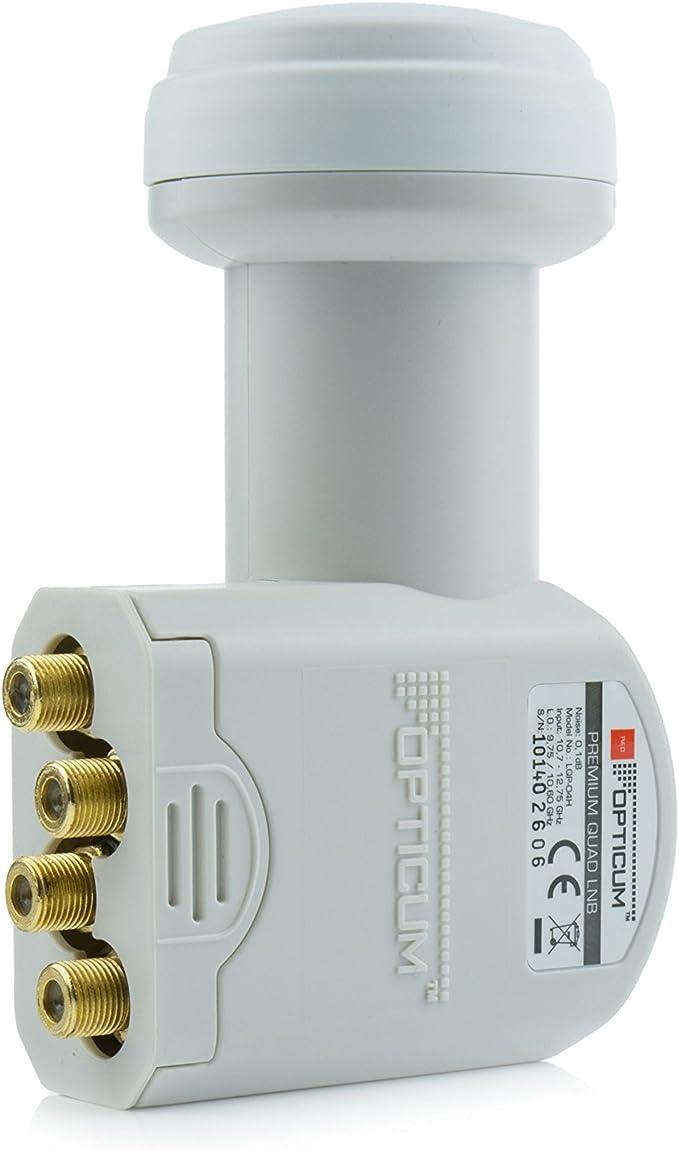 Opticum Qa80 Sat Antenne Stahl Mit Quad Lnb Lqp O4h Elektronik