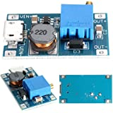 HiLetgo 2A DC-DC ブーストステップアップ 転換モジュール Micro USB 2V-24V to 5V-28V 9V 12V 24V
