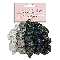 Kitsch Metallic Scrunchies for Hair, Hair Scrunchies for Women and Girls, Set of...