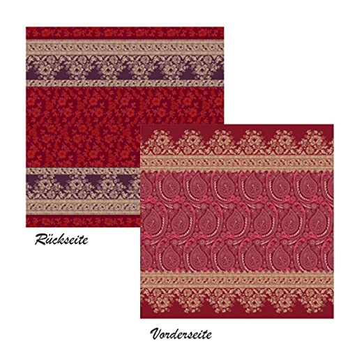 Bassetti RECANATI R1 - Funda de cojín, Color Rojo, algodón ...