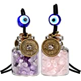 Lucky Coins Magic Small Car Charms or Home Decor Gem Bottles Rose Quartz Amethyst Protection Amulets